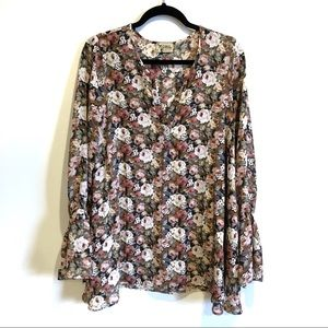 Show Me Your Mumu Floral Bell Sleeve Tunic